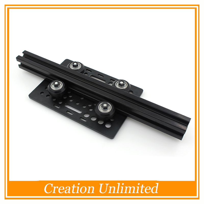 Openbuilds DIY aluminum alloy Gantry Plate Slot Aluminium +Openbuilds Isolation Column+Plastic wheel with Bearings Pulley