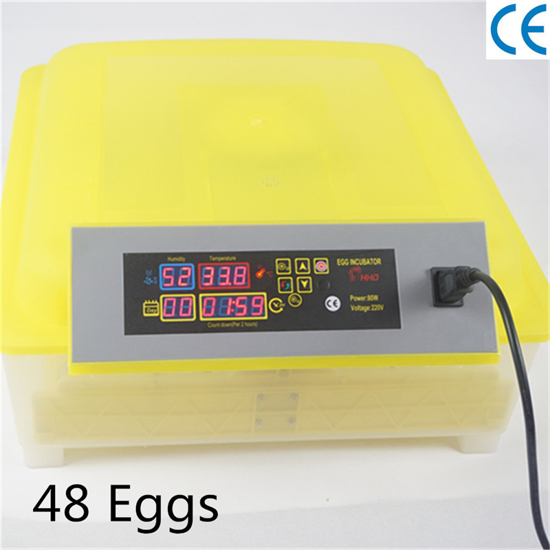 48 Mini egg incubator Chicken hatching machine automatic turnning birds parrot duck goose chicken egg incubator hatcher 48 automatic mini parrot egg incubators hatcher hatching machines
