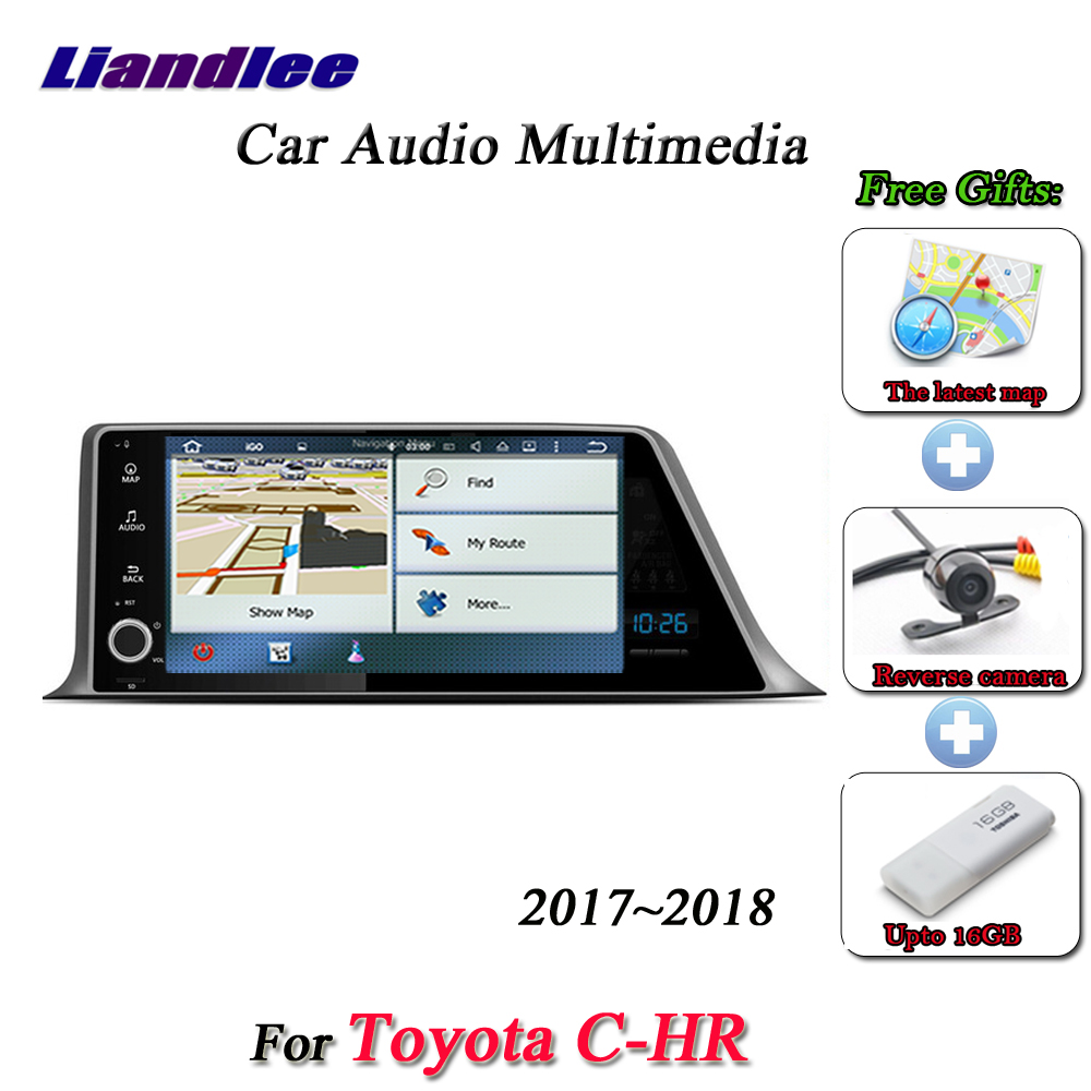 US $425 1 22% OFF|Liandlee Car Android System For Toyota C HR 2017~2018  Radio Video BT Mirror link GPS Navi Navigation Stereo Multimedia No CD  DVD-in