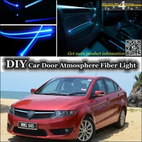 interior Ambient Light Tuning Atmosphere Fiber Optic Band Lights For Proton Preve O3 21A Inside Door Panel illumination Tuning