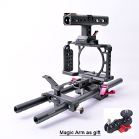 Professional Photography Rabbit Video Camera Cage Kit Suite for Sony A6000 A6300 A6500
