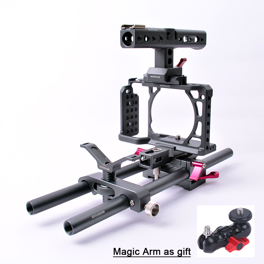 Professional Photography Rabbit Video Camera Cage Kit Suite for Sony