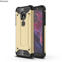 Shockproof Case For Motorola Moto G6 G5 G5S E5 G4 Plus Z Play Force G3 E3 M TPU+PC hybrid Armor carbon fiber Silicone Back Cover(China)