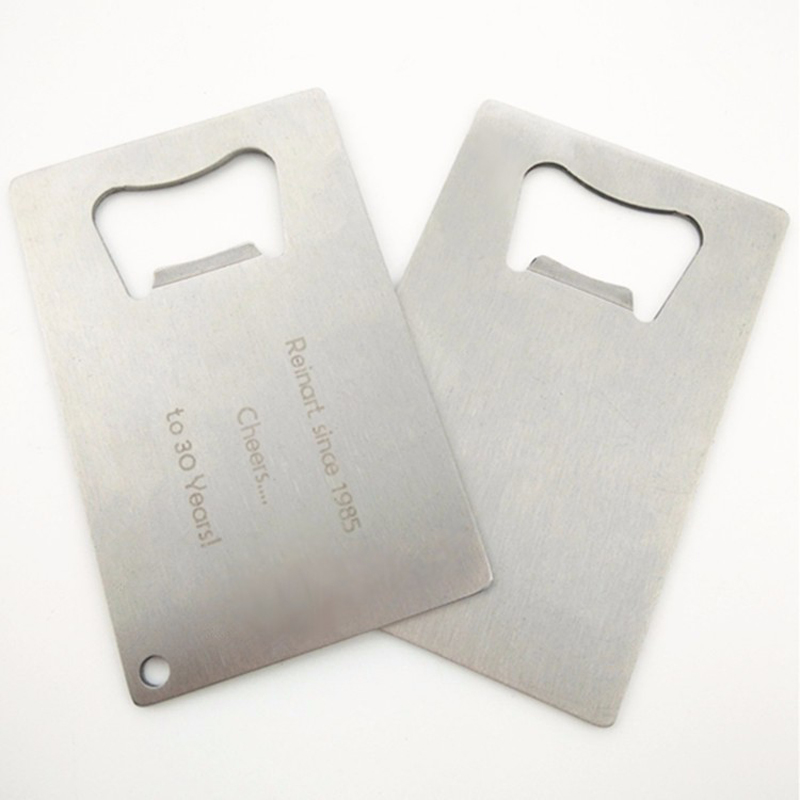 100 of credit card sized stainless steel bottle openers customize 100 of credit card sized stainless steel bottle openers customize logo engraved metal business card corporate anniversary gift in openers from home garden reheart Choice Image