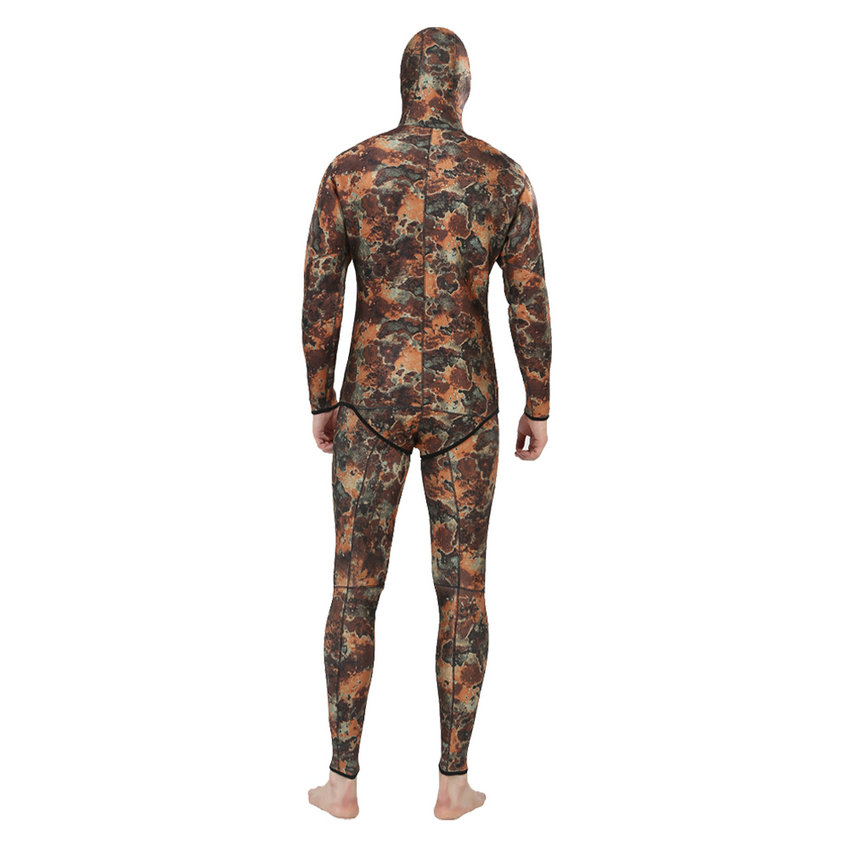 Top quality new 7mm CR neoprene diving suit camo spearfishing wetsuit (3)