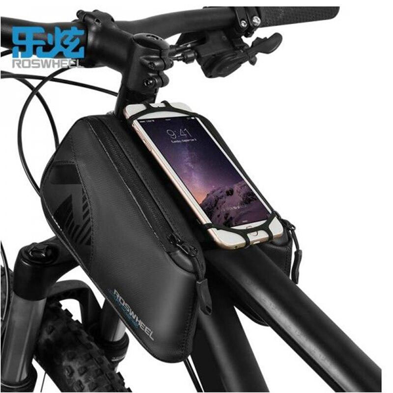 ROSWHEEL bicyclette de vélo top tube sac pour 4.0-6.7 pouce téléphone accessoires nylon imperméable 1680D 2018 Nouveau