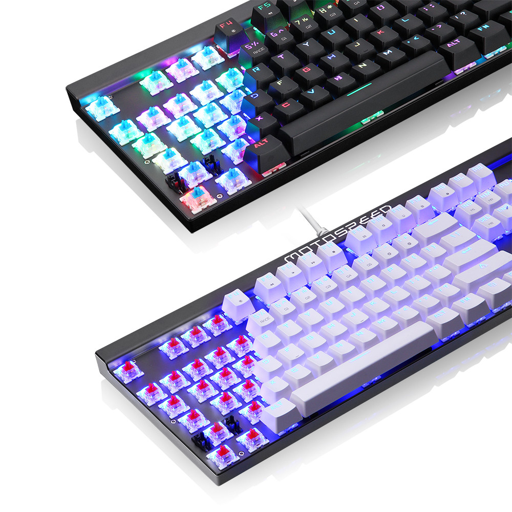 Keyboard USB Wired Gaming Keyboard 104Keys Anti-ghosting No Conflict Teclado #T08Keyboard USB Wired Gaming Keyboard 104Keys Anti-ghosting No Conflict Teclado #T08