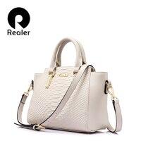 REALER Brand Fashion Women Luxury Handbags Women Bags Designer Messenger Genuine Leather Shoulder Bag Famous Brands