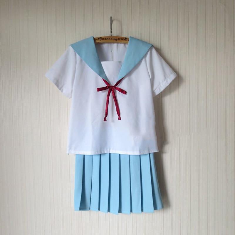 Anime Cosplay Costumes Kawaii Japanese School Sailor Uniform For Women Dress Outfit Top+Skiirt S-XXL