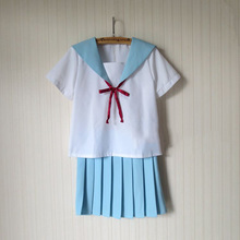 Anime Cosplay Costumes Kawaii Japanese School Sailor Uniform For Women Dress Outfit Top+Skiirt S-XXL