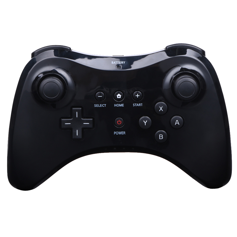 Black/White Wireless Classic Pro Controller Gamepad with USB Cable For Nintendo For Wii U