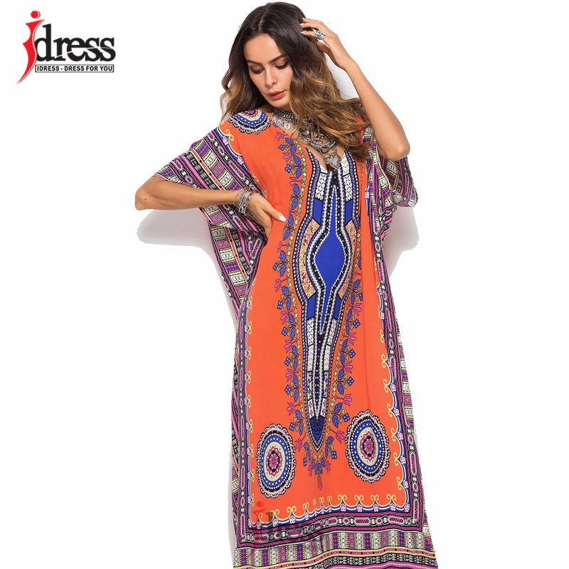 21ec1ffe2 IDress Online Shopping India Ethnic Dress Moroccan Clothing India Summer  Dress Casual Vestidos Femininos Black Blue Yellow Red-in Dresses from  Women s ...