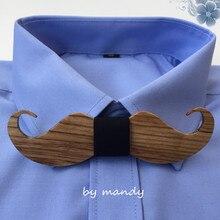 Высококачественный Зебра деревянный мужской галстук-бабочка смешные усы галстук-бабочка с фабрики