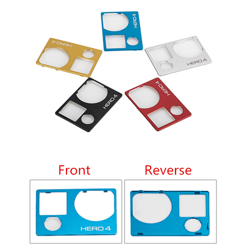Image 2 - Suptig New Accessories  For Gopro Aluminum Front Board Cover Replacement Mount for Gopro Hero 4 Camera Faceplate Repair-in Sports Camcorder Cases from Consumer Electronics