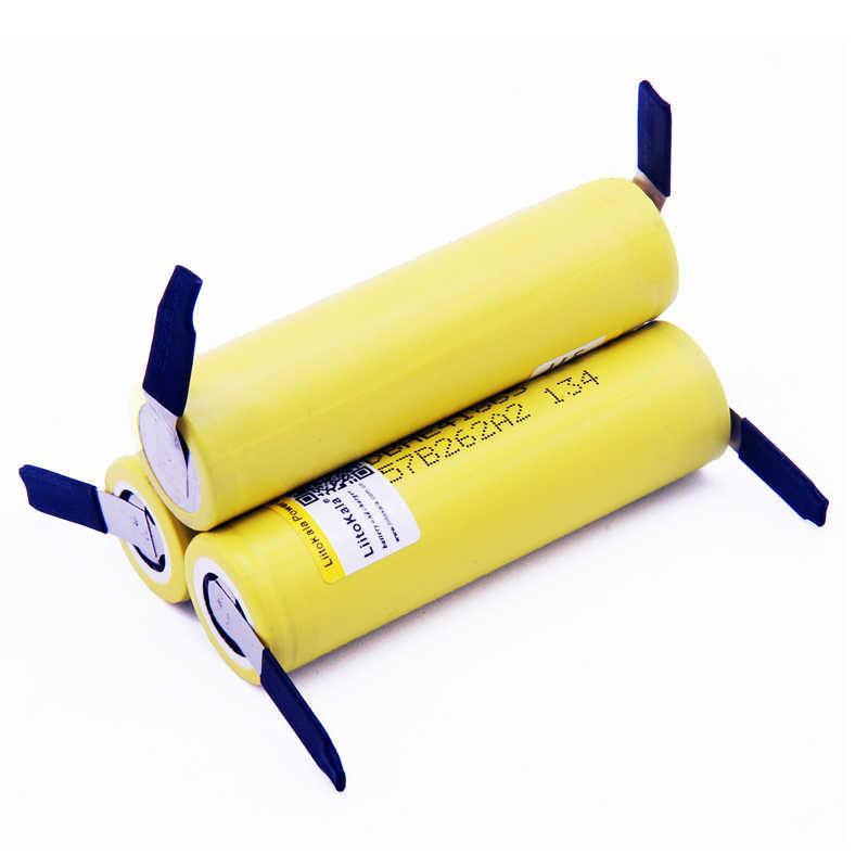 Liitokala 100% Новый оригинальный HE4-N 18650 литий-ионный аккумулятор 3,6 В 2500 мАч аккумулятор 20A35A разрядка + DIY никель
