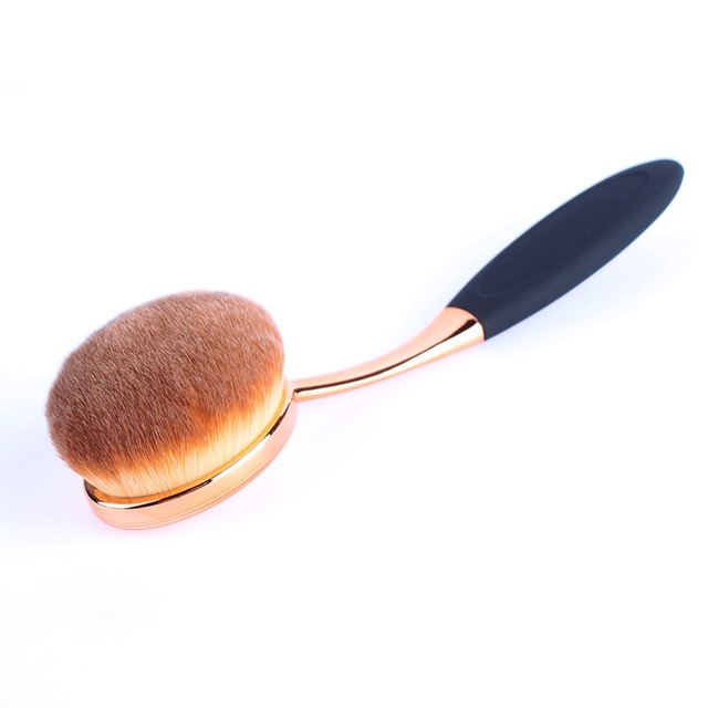 Rose Gold Oval Brush Set 10Pcs