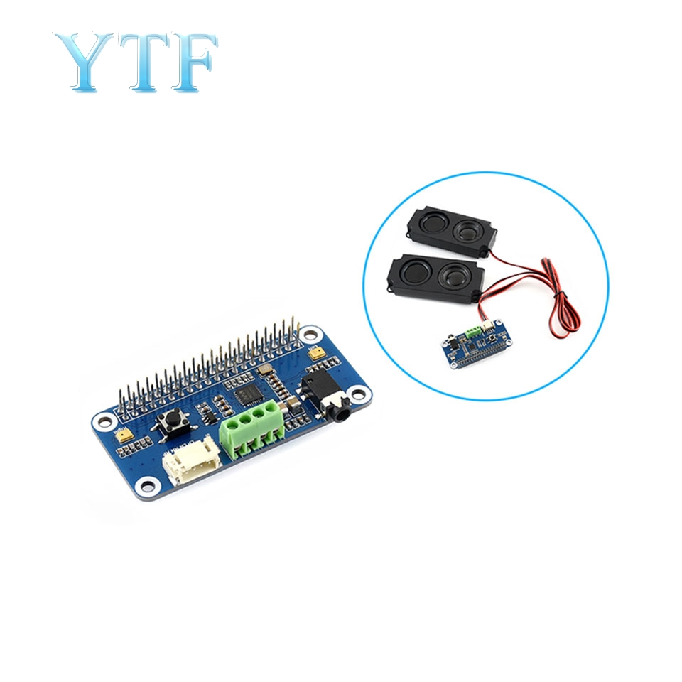 Raspberry Pi 4B 3B+ WM8960 Audio Module Expansion Board Stereo Codec Speaker With Small Speaker
