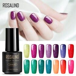 ROSALIND Gel nagellack 7ML Neon Semi Permanent UV Nail art Design Tränken weg maniküre Weiß für Gel Lack nägel Gel polnisch
