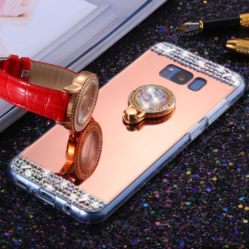 S 360 telefon prsten stojan měkký zadní kryt pro Samsung Galaxy S8 - Příslušenství a náhradní díly pro mobilní telefony