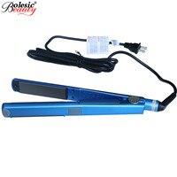Flat Iron Hair Straightening Titanium Flat Iron Professional Plates Styling Tools Mini Hair Straightener EU Plug