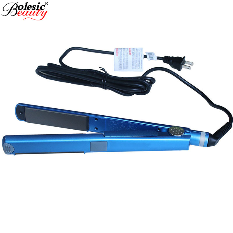 Flat Iron Hair Straightening titanium flat iron professional Plates Styling Tools mini hair straightener EU Plug US Plug km 2209 professional hair flat iron curler hair straightener irons 110v 220v eu plug tourmaline ceramic coating styling tools