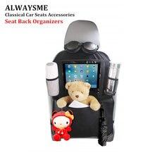 ALWAYSME защита на заднее сиденье автомобиля органайзеры Kick коврики iPad держатель планшета большие Органайзеры для хранения с крючками для путешествий детей