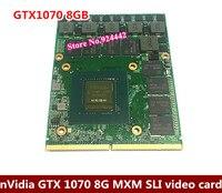 Для Dell Alienware/MSI/ноутбука Clevo nVIDIA GeForce GTX 1070 8 г GPU 8 ГБ GDDR5 Графика карты Отправить по DHL