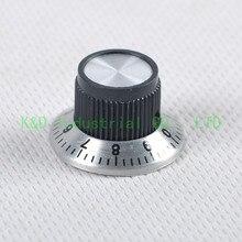 Винтажная бакелитовая + алюминиевая ручка регулировки громкости для 6 мм вала, запчасти для усилителя электрогитары, 10 шт.
