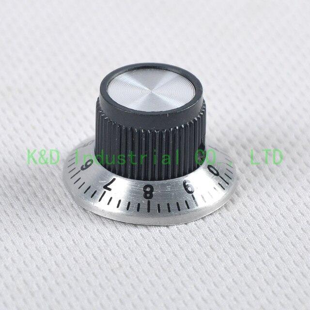 10 pcs bouton de tonalité de Volume de contrôle en bakélite + aluminium Vintage pour pièces damplificateur de guitare électrique arbre 6mm