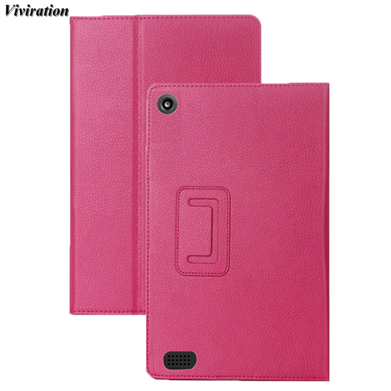 Viviration Fashion PU Tablet PC Case Stand Cover For Amazon Kindle Fire HD 7 2015 Case 2018 The Most Popular Tablet Accessories