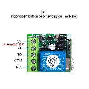 Image 3 - Kebidu 433 МГц беспроводной пульт дистанционного управления переключатель для обучения кода передатчик дистанционного управления 12 В постоянного тока 1 канал реле 433 МГц модуль приемника