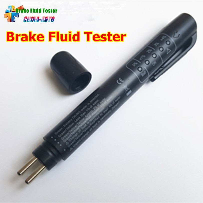 20pcs Quality A+ Brake Fluid Tester Pen Diagnostic Tools Electric Tester With 5 Led Lights Universal