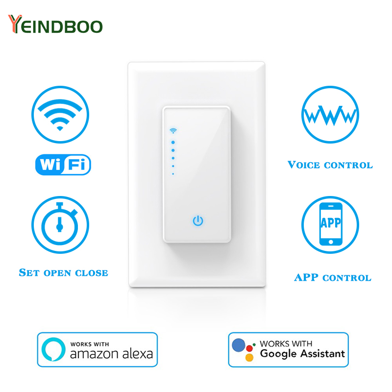Wall-Mounted Intelligent Dimmer Voice Control APP Remote Control Timing Automatic Switch Suitable For Alexa And Google Home Use