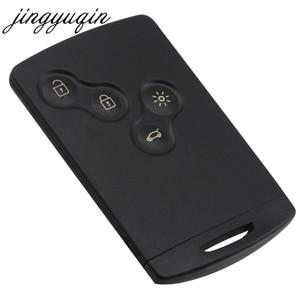 Image 2 - jingyuqin Car Key Card Fob 433MHZ PCF7952 Chip for Renault Megane Scenic Laguna Koleos Clio Uncut Blade 4 Button Remote Key