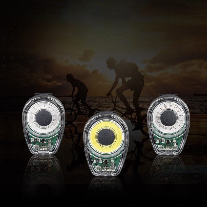Smart Bicycle Tail Light USB Charging Warning Lights LED MTB Round Rear Back Safety Lamp Bike Accessory SKD88