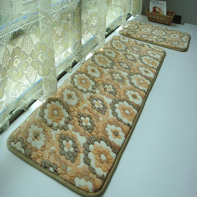 Tapis de lavage à l'eau tapis en molleton de corail rustique paillasson tapis de bain tapis piaochuang