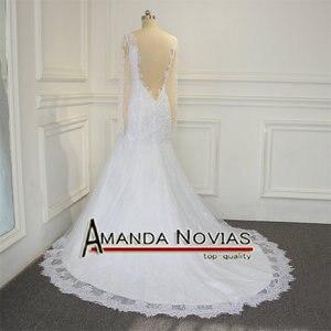 Image 2 - Sexy backless real foto trouwjurk amanda novias robe de mariee