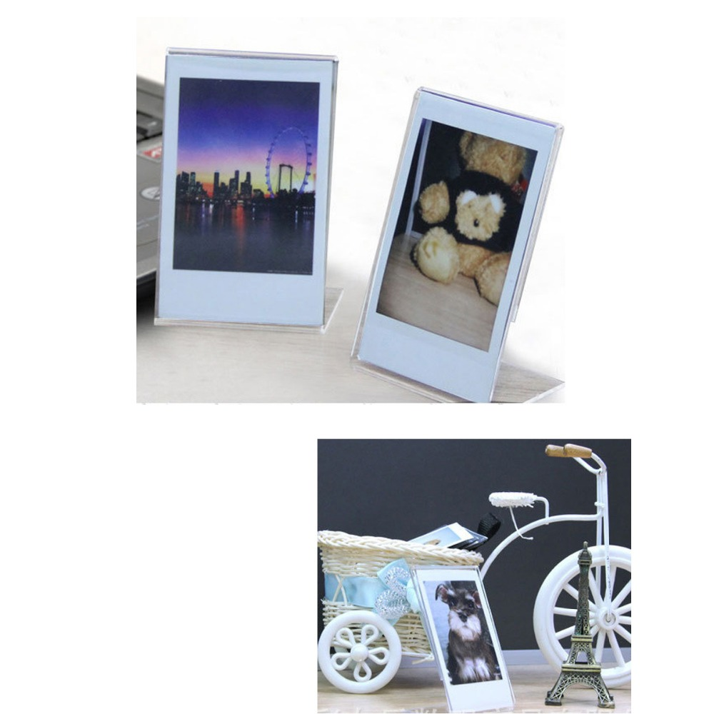 Image 4 - 2 Pieces L  Shaped Acrylic Transparent Stand Simple Photo Frame for Fujifilm Instax Mini Mini LiPlay / 7s/ 8/ 9 /70/90 Mini Film-in Camera/Video Bags from Consumer Electronics