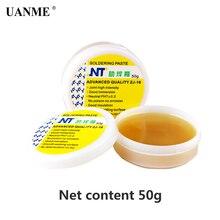 Паяльная паста UANME NT, пайка с флюсом высокой интенсивности, 50 г 80 г 150 г, желтая паста, улучшенное качество, без канифол