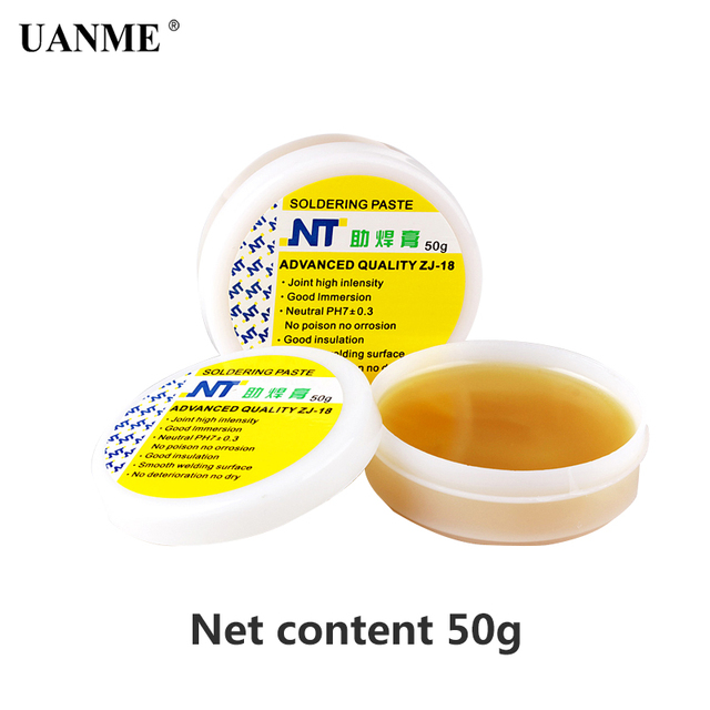 UANME NT ZJ-18 50g 80g 150g Yellow paste Advance Quality Solder Flux Soldering Paste High Intensity Free Rosin
