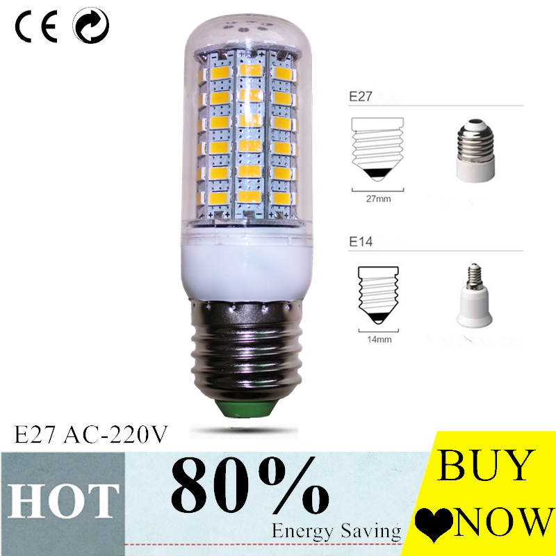 E27 LED Lamp E14 LED Bulb SMD5730 220V Corn Bulb 24 36 48 56 69 72LEDs Chandelier Candle LED Light For Home Decoration led lamp 220v 240v b22 bayonet smd5730 led corn light 24leds home decoration indoor lighting led bulb