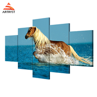 Artryst HD Printing Modern Style Horse Printing On Canvas 5 Pieces Canvas Painting With Frame Wall