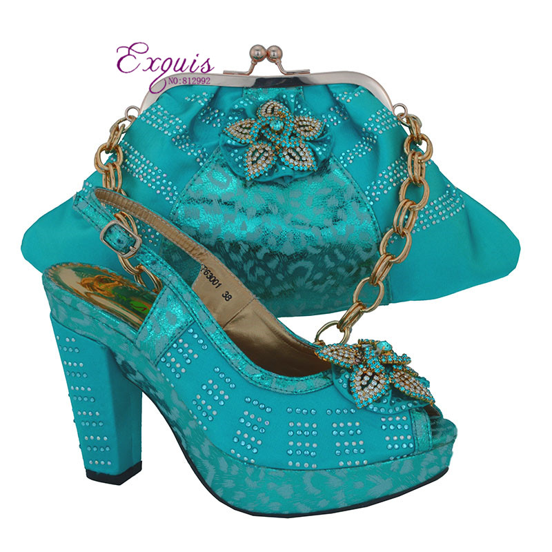 ФОТО Sky blue,Free shipping African women shoes and bags set!high quality Italian shoes and matching bags for wedding! CP63001