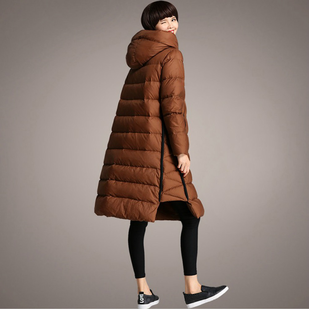Kleidung Qualit 2017 Trainingsanzug Winter Frauen Jacken t 5xl Gre Lange Feminine Kamel ~ Daunenjacke Plus Parka M Stilvolle Lose Hohe CxrdBoWe