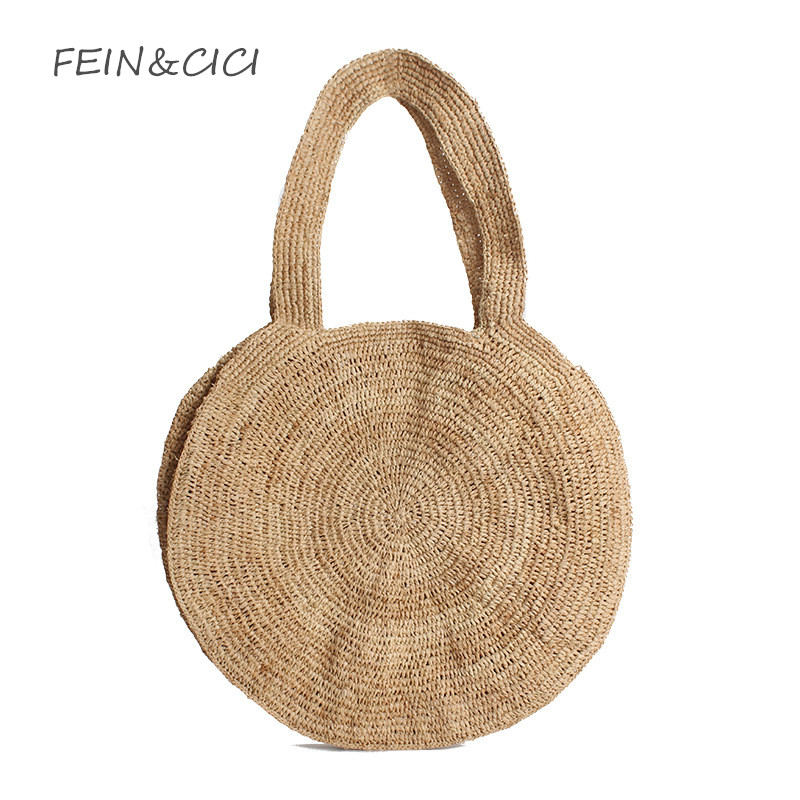 beach bag round straw tote bag large big Jumbo circular summer bag women natural boho handbag 2018 Bohemian ins drop shipping 2018 new fashion circular beach bag summer women shoulder bags round shape straw bag boho vintage retro beach handbag