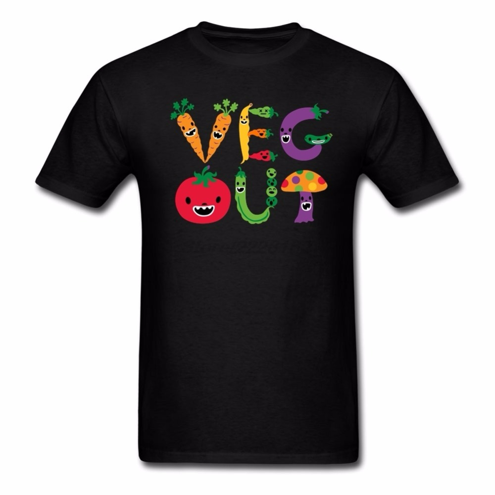 Men Online Easter Sunday T Shirt S-3XL Veg Out Fruits Big Boy T Shirts Short Outfits Creator