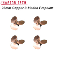 Nartor 23mm Copper 3 Blades Propeller CW CCW Propeller For RC Model Boat DIY Accessories Spare