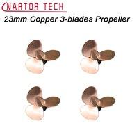 Nartor 23mm Koperen 3-blades Propeller CW CCW Propeller Voor RC Model Boot DIY Accessoires Onderdelen