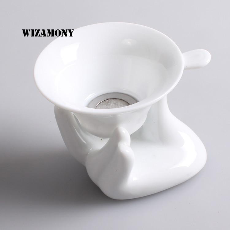 White Ceramic Mesh Tea Infuser Reusable Tea Strainer Loose Tea Leaf Spice Filter Percolator Tea Filter Colander Herbal Spices