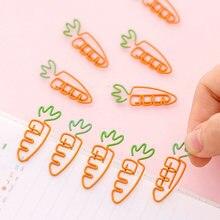 50 шт/лот новые металлические зажимы в форме моркови закладки